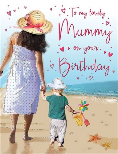 To My Lovely Mummy On Your Birthday Seaside